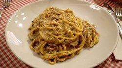 Tonnarelli al tartufo   speck zucchine pecorino crema tartufata