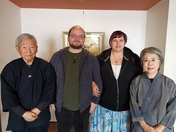 Me and my fiance with the owners, Isao-san and Yoneko-san. Thank you both so much again for having us!