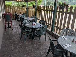 Licensed outdoor patio