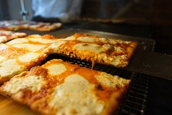 Lucille's creamy Vodka Sauce square Pizza!