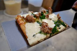 Broccoli Rabe & Sausage square.