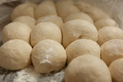 fresh dough resting