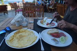Breakfast at the Hotel Yasemin. Very fresh and omelettes cooked to order.
