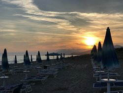 Spiaggia al tramonto