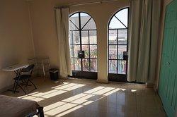 Blick aus dem Balkon unseres Doppelzimmers
