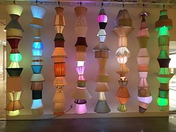 it's so easy - even a Czech-Nebraskan could string old lampshades with flashing colored LEDs....right
