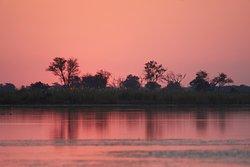 Sunset on the Kwai River, Botswana