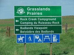 The park is 10/15 km's on gravel roads from this sign