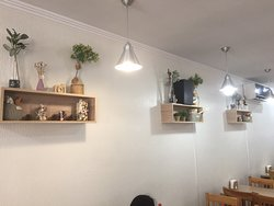 Wall decorations at inside seating, Cooksoo