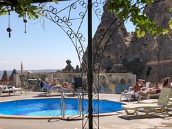The World's best pool view award 2018 winner. Swim by the Uninesco World Heritage Uchisar Castle.