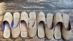 Paila room slippers specially made for Peacock Guest House in Bhaktapur, Nepal.