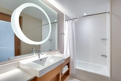 Some Suites feature a bathtub and shower.