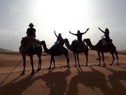 Beautiful night in the Merzouga desert