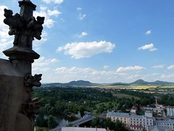 View from the St. Nicholas church in Louny