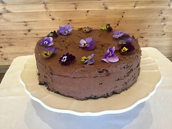 Beautiful vegan cakes available most days