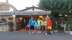 In front of Perasma Grill Stoupa