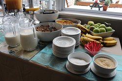 Breakfast is included in your stay. If you are in the Royal Suites you also get a cooked breakfast.