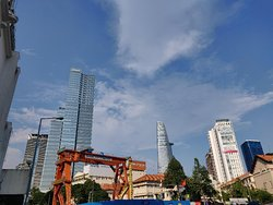 View of the skyline outside one of the entrance to the market