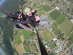 Tandem Paragleitflug über Bodensdorf