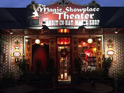 An old time magic shop!  The theater is under construction.  Worth the visit!  Call before you go to make sure they are open.  Live demonstrations!  They are open most Friday's and Saturday's.  Family owned.  They are closed Mon-Thurs due to construction on the theater.  Always closed on Sunday.  A jewel in the most unlikely of places.  Step into their courtyard and magic shop and you will feel like you have stepped into an amusement park.  Fun, fun and more fun for all ages