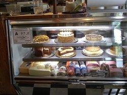 Dessert and deli case.