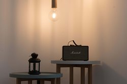 All suites feature a bluetooth soundbox