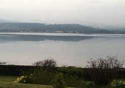 View from Thistle House guest house across Loch Fyne to Inveraray