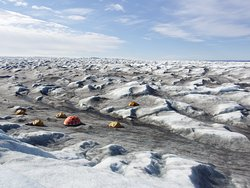 Our ice camp from above