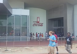 Outside view of the World of Coca Cola