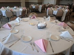Our banquet facility holds 40-170 guests. For information on our banquet room go to www.rockefellersgrille.com/banquets