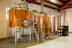 Our copper-clad brewhouse, where we hand-craft our range of delicious beers.