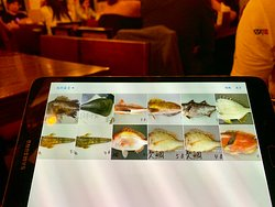 魚刺身菜單