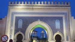 La puerta azul de Meknes.