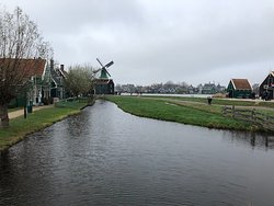 Canal that runs behind the windmills