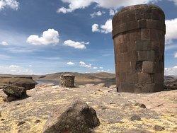 Sillustani chullpas near Puno is pre-Incan cementery of lake Umayo