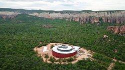 vista aérea do museu da natureza
