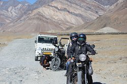 Quick pit stop to repair the Himalayan Bike at Zanskar Valley