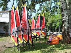 for beginner windsurfer groups we offer the light and easy to handle TIKI sails.
