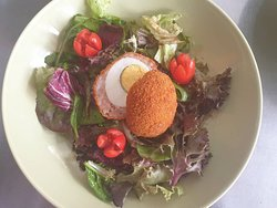 Scotch Egg & Salad