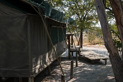 The tents in the main camp of the Mankwe Bush Lodge