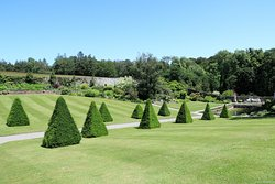 The formal part of the garden at Plas Cadnant