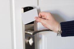 Tessera magnetica per accedere alle camere