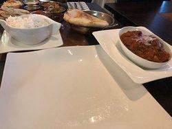 Vindaloo with rice and nun
