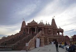 Side view of the temple