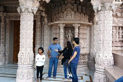 Artwork inside the temple