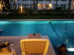 Our swim up at night!