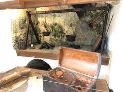 Artefatos da cozinha do castelo