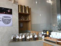 Coffee area near lobby
