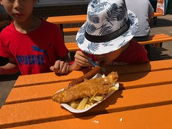 wont be an sea-side trip without fish & chips :)
