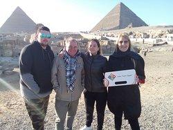 At Giza pyramids